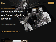 Tablet Preview of dutchinteractiveawards.nl